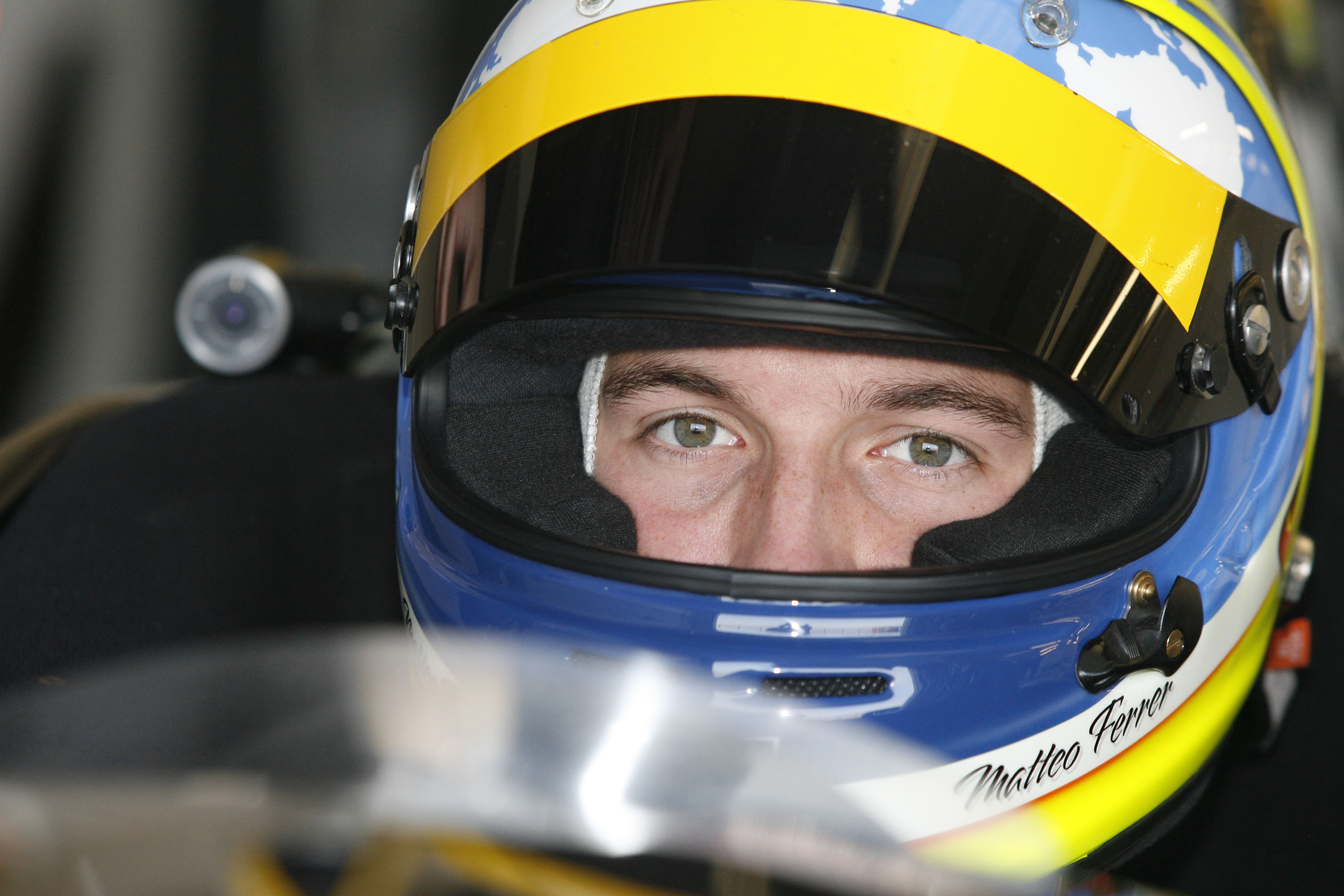 Matteo Ferrer sits in his Protyre Formula Renault at Silverstone waiting for the session to start. Silverstone, UK, 2013